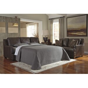 Almeda Leather Sleeper Living Room Collection by Darby Home Co