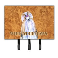 Shih Tzu Wipe Your Paws Leash Holder and Key Holder by Caroline's Treasures