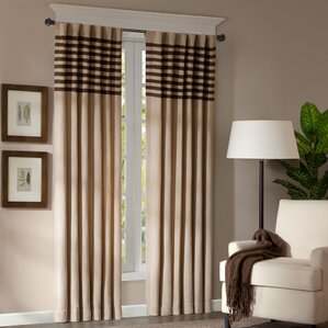 Bartholomew Striped Semi Sheer Rod Pocket Curtain Panels (Set Of 2)