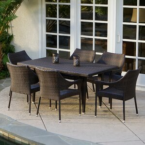 Wicker Patio Dining Sets Wicker Patio Furniture Wayfair
