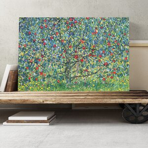 'Orchard with Roses' by Gustav Klimt Painting Print on Canvas