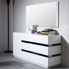 Marley 6 Drawer Dresser with Mirror by Wade Logan
