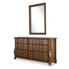 Sofitel 9 Drawer Dresser with Mirror by Astoria Grand