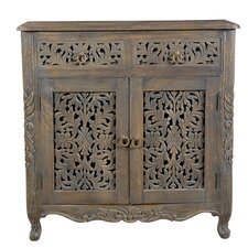 Aveliss 2 Drawer 2 Door Accent Cabinet by Bungalow Rose