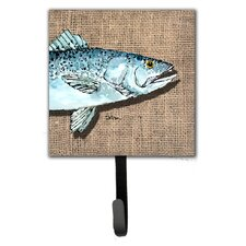 Speckled Trout Leash Holder and Wall Hook by Caroline's Treasures