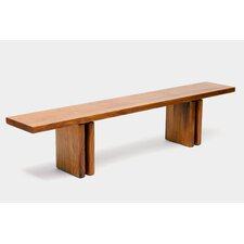 Occidental Outdoor Wood Dining Bench by ARTLESS
