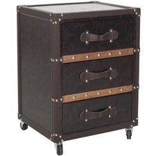 Norman 3 Drawer Rolling Chest by Safavieh