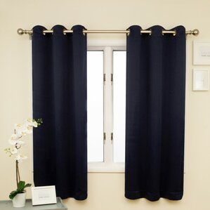 Solid Blackout Thermal Single Curtain Panel