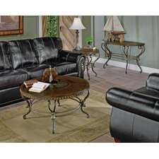 5553 Series Coffee Table with Curved Base by Woodhaven Hill