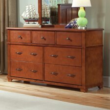 David 7 Drawer Extra-Wide Solid Wood Double Dresser by Viv + Rae
