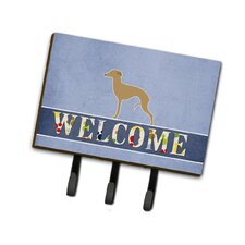 Italian Greyhound Welcome Leash or Key Holder by Caroline's Treasures