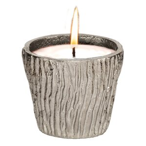 Cast Metal Unscented Jar Candle