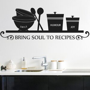 Smile Humour Joy Bring Soul To Recipes Wall Sticker