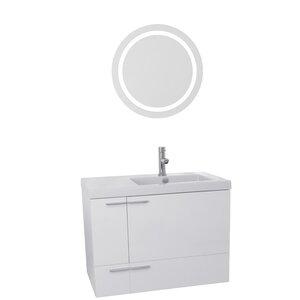 New Space 31 Single Bathroom Vanity Set with Mirror Nameeks Vanities