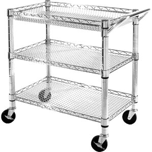 UltraZinc 3 Shelf NSF Commercial Steel Wire Utility Cart