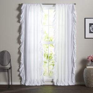 Eton Solid Semi Sheer Rod Pocket Curtain Panels (Set Of 2)