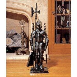 The Black Knight Fireplace Tool Ensemble Figurine