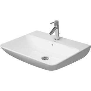 Best Price Me by Starck Ceramic 26 Wall Mount Bathroom Sink with Overflow By Duravit