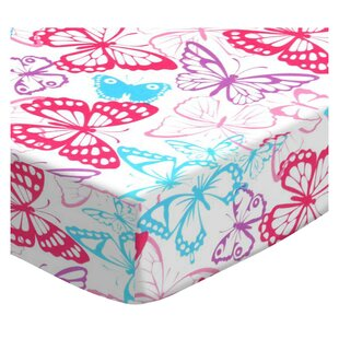 Butterflies Jersey Knit Fitted Crib Sheet By Sheetworld