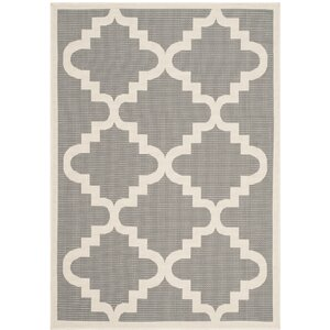 Short Ashton Anthracite/Beige Indoor/Outdooor Area Rug