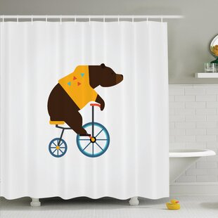 Ivor Bear Bicycle Circus Shower Curtain Set