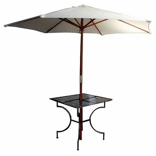 Find the perfect Iron Square Dining Table with 2.75 inch  Umbrella Holder Great Price