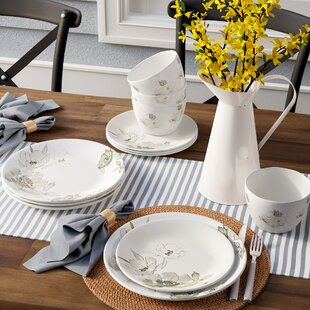 Powhattan Melamine 12 Piece Dinnerware Set, Service for 4