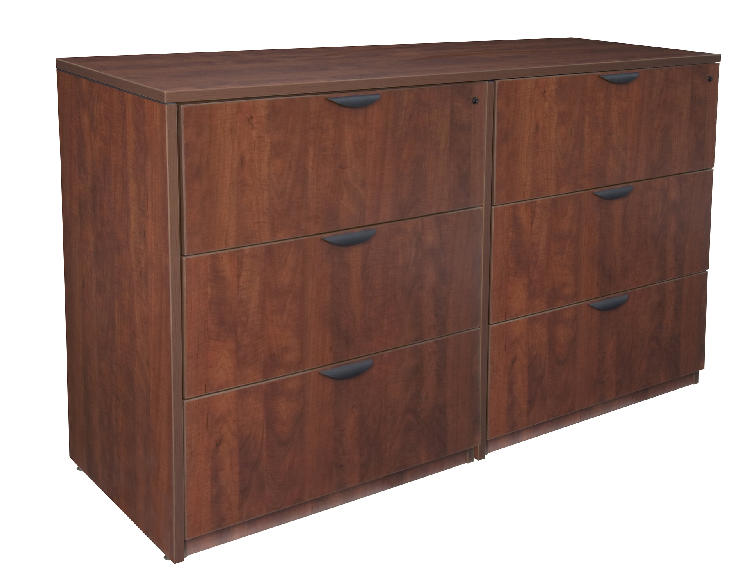 Linh Stand Up Side To Side 6 Drawer Lateral Filing Cabinet