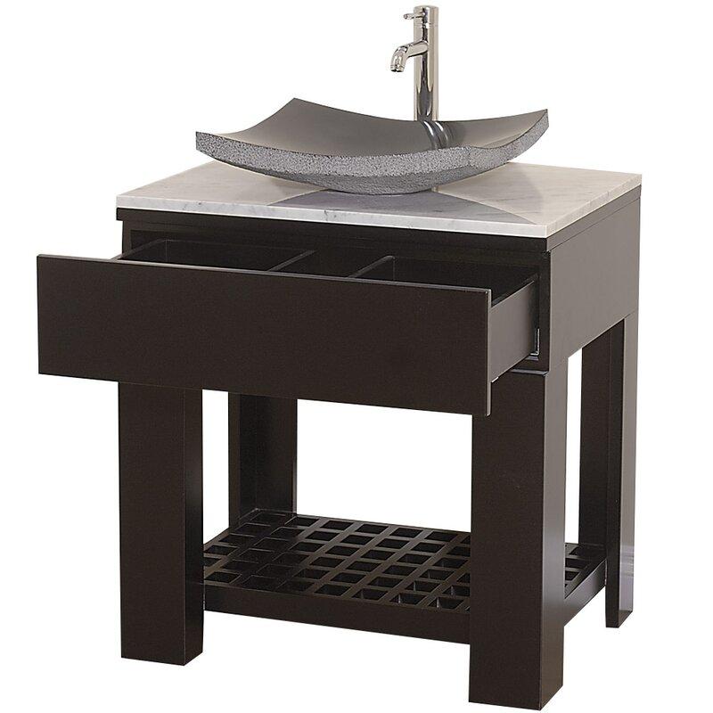 """Zen Bathroom Sinks wyndham collection zen ii 30"""" single bathroom vanity set with"""