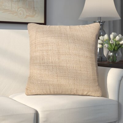 Abraham Texture Coco Soft Burlap Throw Pillow by Alcott Hill Best