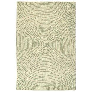 Caneadea Hand-Tufted Green Geometric Area Rug byGeorge Oliver