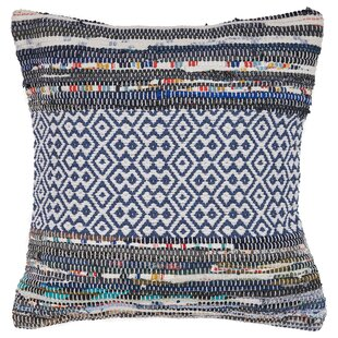 Dee Geometric Diamond Cotton Throw Pillow