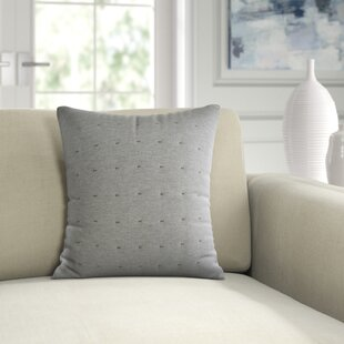 Tuille Floral Tufted Cotton Throw Pillow