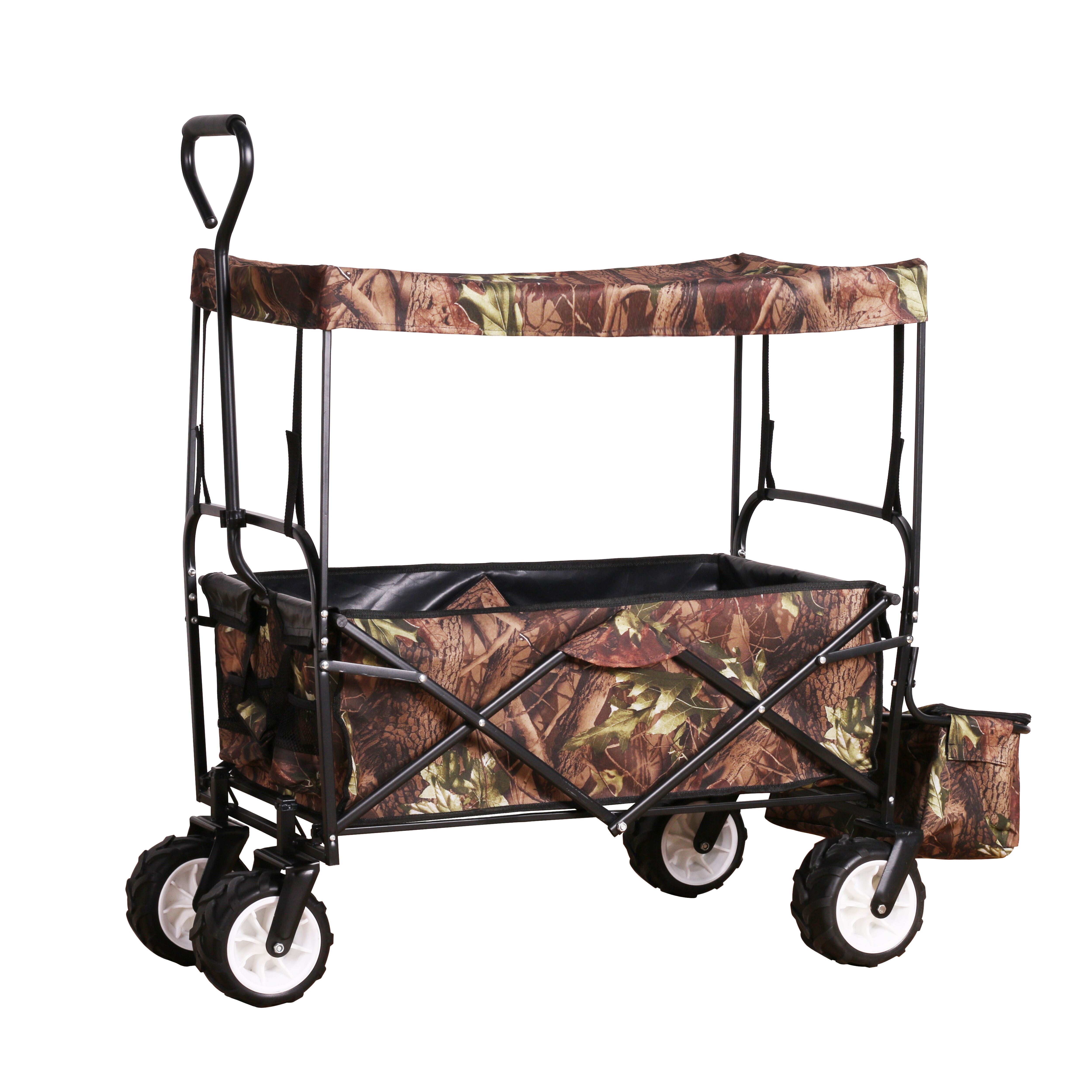Unique Imports All Terrain Steel And Wood Pull Cart Wagon For Kids W Extra Large 10 Air Tires For Hauling Heavy Duty Country Model 300lb Load Capacity Pull Along Wagons Toys Games