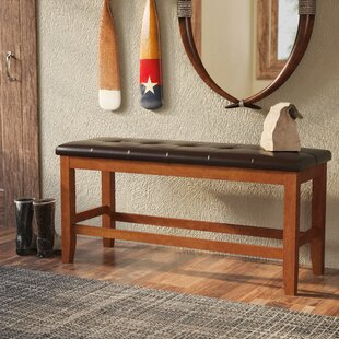 Loon Peak Brill Faux Leather Bench