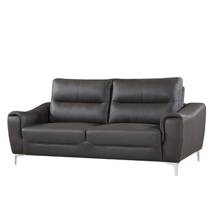 Malissa Leather Sofa by Orren Ellis