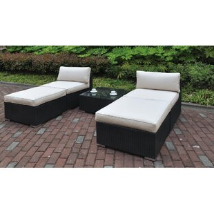 Latitude Run Lacourse 5 Piece Chaise Lounge with Cushion