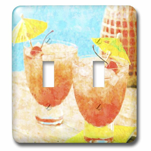 3drose Tropical Cocktails With Tiki Umbrellas 2 Gang Toggle Light Switch Wall Plate Wayfair