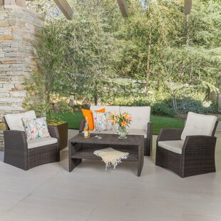 Dalton 4 Piece Rattan Sofa Set With Cushion