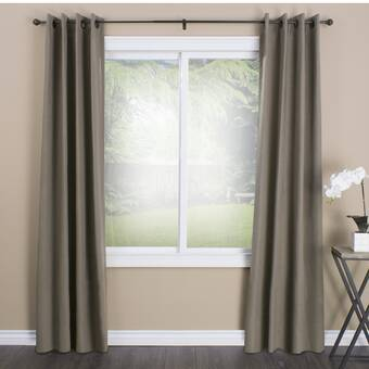 Brayden Studio Gayton Adjustable Drapery Ceramic White Single Curtain Rod Wayfair