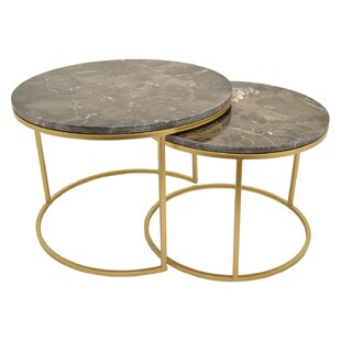 Gimenez Metal Top 2 Piece Nesting Tables (Set of 2)
