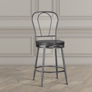 Odaniel Metal Back 26 Swivel Bar Stool by Williston Forge