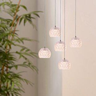 Bristow 5-Light LED Cluster Pendant by Orren Ellis