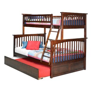 Harriet Bee Abel Twin Over Full Standard Bed with Trundle