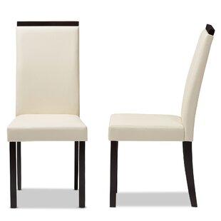 Ebern Designs Peterkin Upholstered Dining Chair (Set of 2)