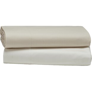 Percale 300 Thread Count Solid Color 100% Cotton Flat Sheet