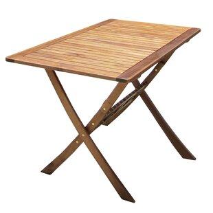 Ignacio Folding Wooden Dining Table by Lynton Garden