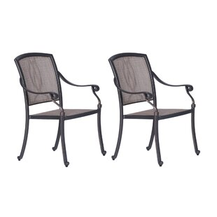 Beaufort Patio Dining Chair with Cushion (Set of 2)