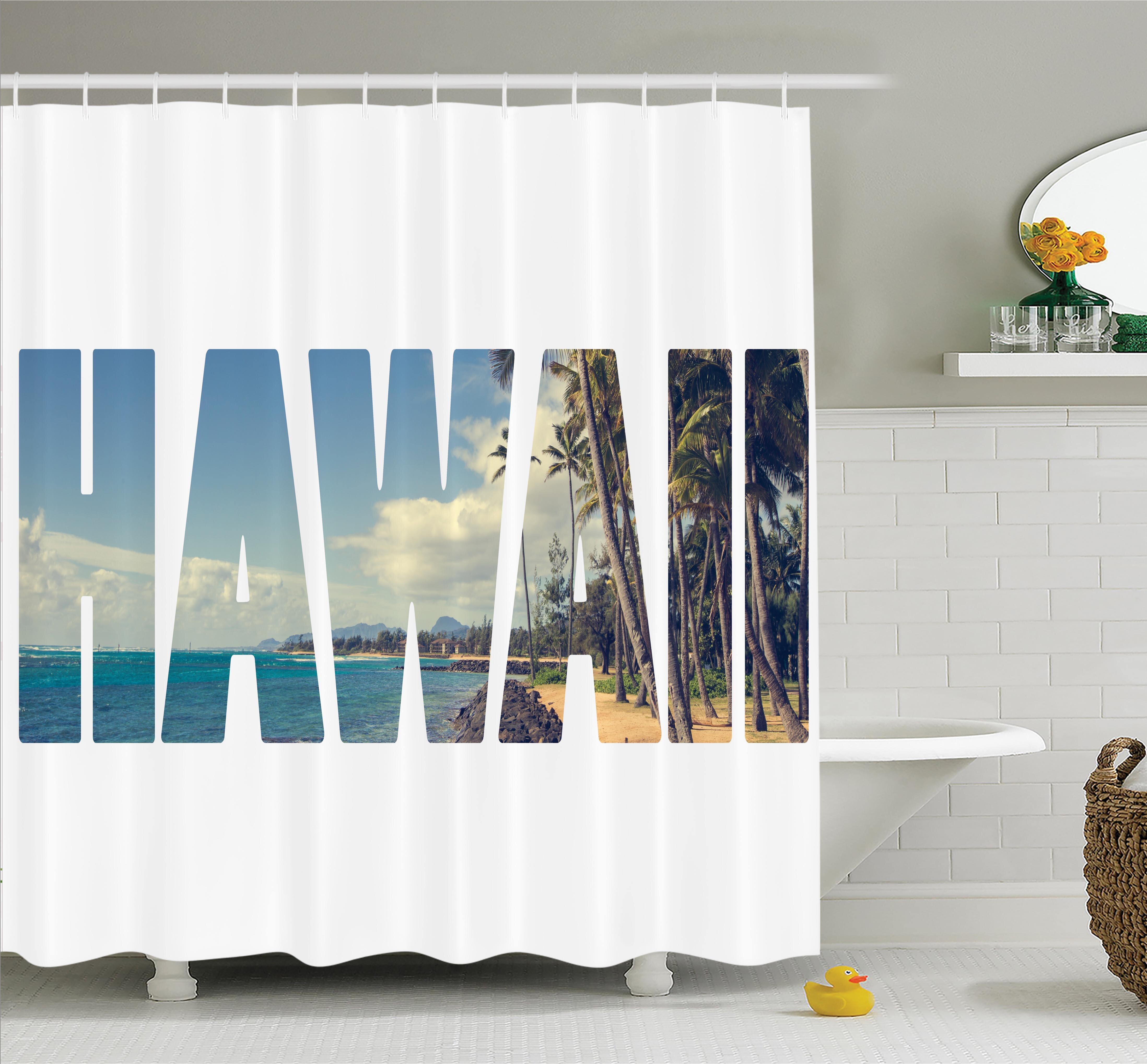 Superbe Ambesonne Tropical Hawaii Themed Artsy Shower Curtain Set   Wayfair