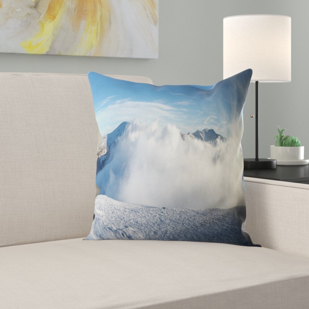East Urban Home Photography Beautiful Winter Landscape Throw Pillow Wayfair